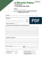 F.titeS 008 Control de Avance Semanal de Elaboración Del Borrador de Tesis 2019 (1)