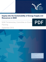 Submission - HBC - Inquiry Into the Sustainability of Energy Supply and Resources in NSW