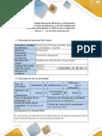 Guía de Actividades y Rúbrica de Evaluación - Tarea 1 - La Acción Psicosocial