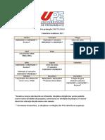 Calendário UPE