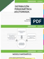 DISTRIBUCIÓN HIPERGEOMÉTRICA MULTIVARIADA..pptx