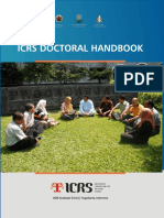 ICRS 20121008 22 Icrs Doctoral Handbook