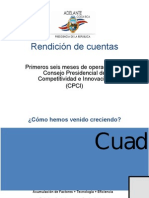 Presentación de Rendición de Cuentas del Consejo de Competitividad e Innovación