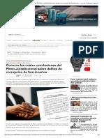 Conozca Las Cuatro Conclusiones Del Pleno Jurisdiccional Sobre Delitos de Corrupción de Funcionarios — La Ley - El Ángulo Legal de La Noticia