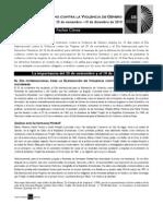 Fechas Claves - 16 DÍAS DE ACTIVISMO CONTRA LA VIOLENCIA DE GÉNERO 25 de noviembre –10 de diciembre de 2010