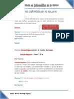 Funciones Definidas Por El Usuario