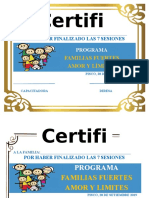 Certificado Familias Fuertes 2