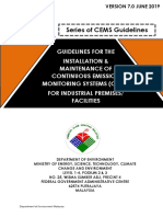 Guideline for the Installation Maintenance of Cems for Industrial Premises or Facilities Version 7.0 June 2019