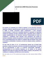 Análisis Del Titulo III CapituloI de La CRBV (Derechos Humanos) - El Blog de Yuyalikgua-Orinok