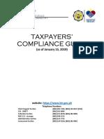 BIR RDO 113 Taxpayers' Compliance Guide 2019