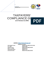BIR RDO 113 Taxpayers' Compliance Guide 2019