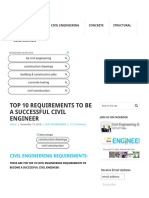 Civil Engineering Requirements _ Top 10 Tips to Be a Successful Civil Engineer