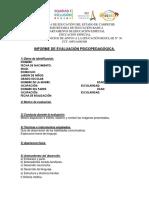FORMATO Informe de Evaluación Psicopedagógica
