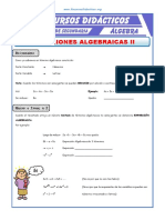 2Ejercicios Con Expresiones Algebraicas Para Segundo de Secundaria