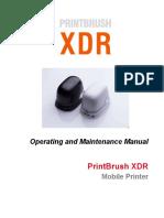 PrintBrush XDR User Manual 20190621 v1.2