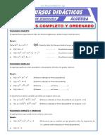 4Polinomio Completo y Ordenado Para Segundo de Secundaria