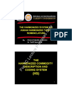 The Harmonized System and Ahtn Presentation October 82019