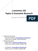 Topics in economics research