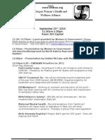 September Agenda