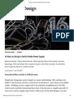 16WaystoDesignSwitch-ModePowerSupply