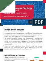 Divide & Conquer - Recurrance