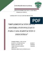 Proyecto sistema fotovoltaico