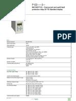 Schneider Relay Datasheet MiCOM P122