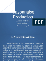 Mayonaise Production Process