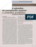 Número de episodios de precipitación superior a umbrales prefijados