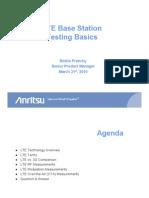 LTE Base Station Testing Basics