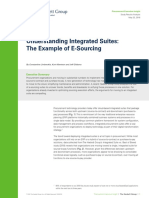 Understanding Integrated Suites the Example of ESourcing