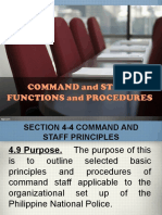 Command and Staff Functions