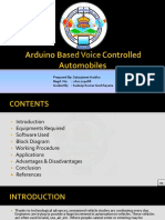 Arduino Based Voice Controlled Automobiles PPT