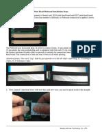Print Head Pinboard Installation Steps