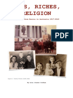 Rags, Riches, Religion - Migration From Russia to Australia 1917-2019
