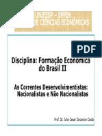 Desenvolvimentismo No Brasil II