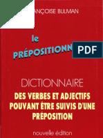 Le Prépositionnaire _ Dictionnaire Des Verbes Et Adjectifs Pouvant Être Suivis d'Une Préposition
