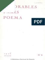 Favorables París poema. 7-1926, n.º 1