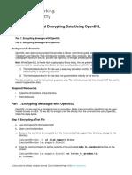 Sodik Alvianto_9.1.1.6 Lab - Encrypting and Decrypting Data Using OpenSSL
