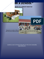 Own a School-contribute Literate Pakistan