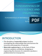 Fundamentals of Materials Scienc and Engineering