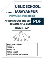 Physics Project (XI)