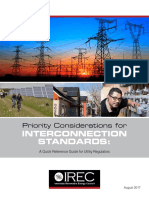 IREC Priority Considerations for Interconnection Standards 2017