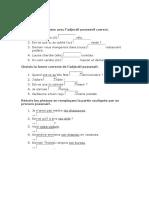 Adjectifs et Pronoms Possessifs