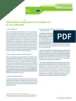 Informations Concernant Le Formulaire A1 Et Son Utilisation