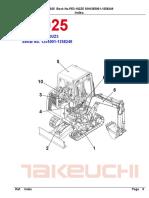 Parts Manual Tb025 Pe3 102z5
