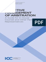 ICC Guide to Effective Management of Arbitration