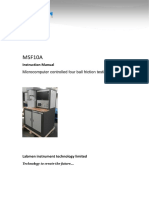 Instruction of Four Ball Test Machine MSF10A 20191024