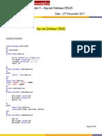 Dot Net - Chapter 4 - ASP.net Gridview CRUD-1