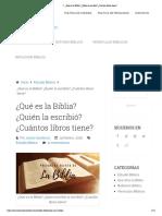 ▷ ¿Qué es la Biblia_ ¿Quién la escribió_ ¿Cuántos libros tiene_